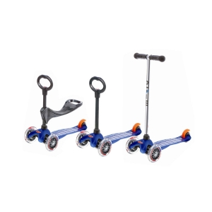 Micro Mini Scooter Blue 3 In 1 Oturak Ve T Barlı