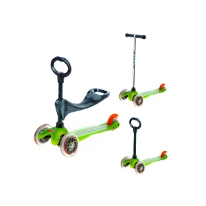 Micro Mini Scooter Green 3 In 1 Oturak Ve T Barlı