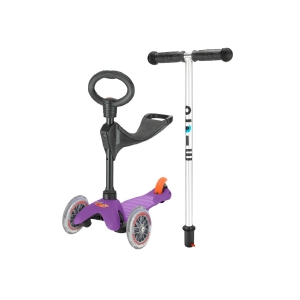 Micro Mini Scooter Purple 3 In 1 Oturak Ve T Barlı