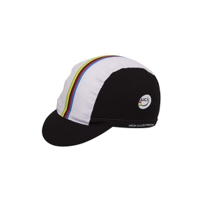 Santini Cap UCI Rainbow Cotton