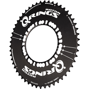 ROTOR Chainring Limited Black Qring 50AT 110x5 - outer  - black - aero